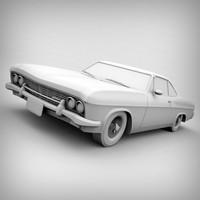 impala ss chevrolet 3d model