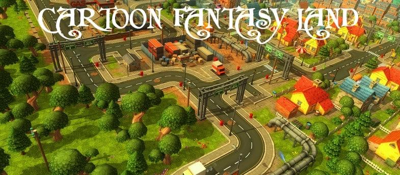cartoon fantasy land fbx