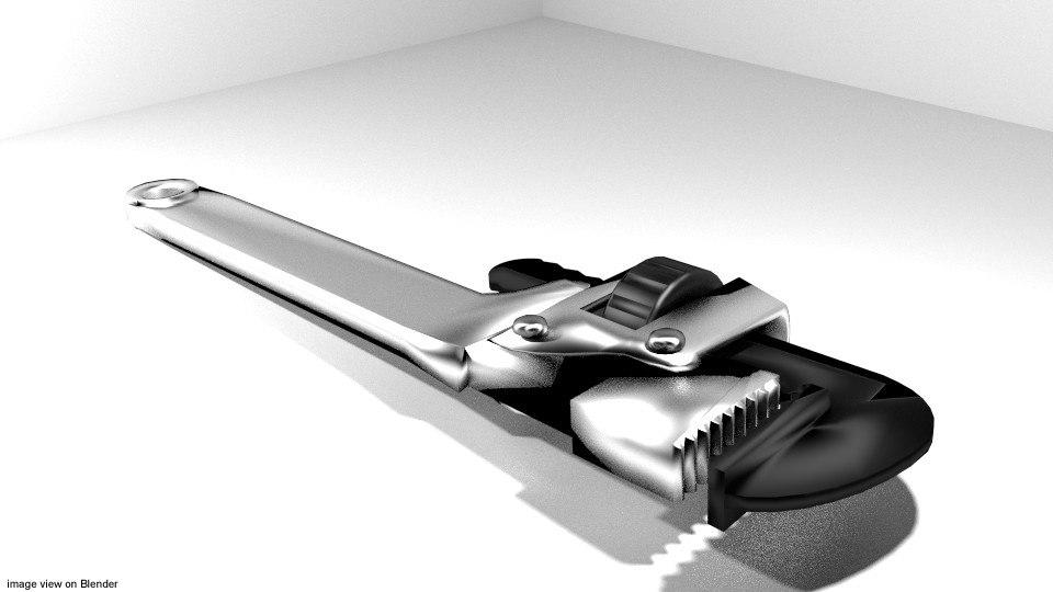 3d model wrench tool handtools