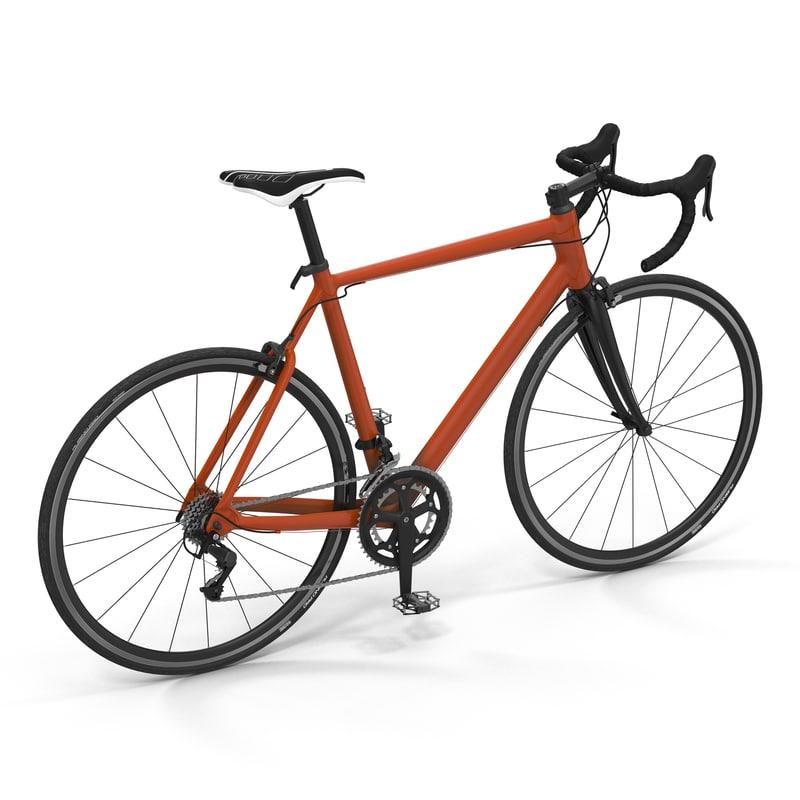 3d road bike generic model
