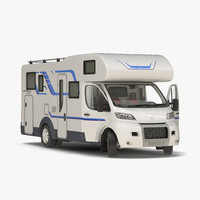 tag axle motorhome rigged 3d max