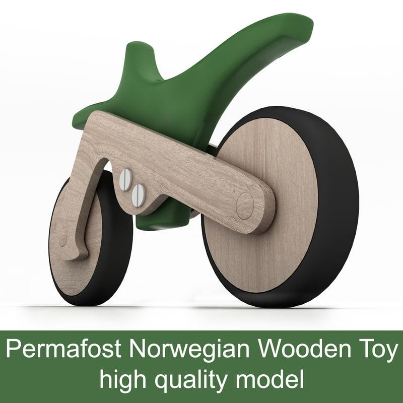 motorcycle norwegian wooden toy max