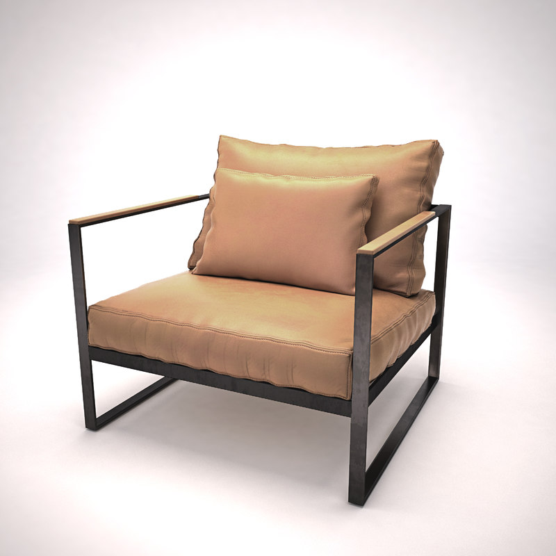 leather armchair monaco lounge chair 3d obj