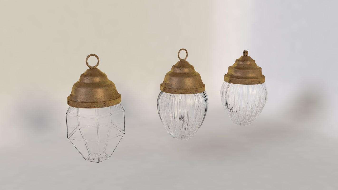 old lamps light 3d model