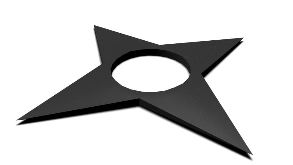 3d shuriken model