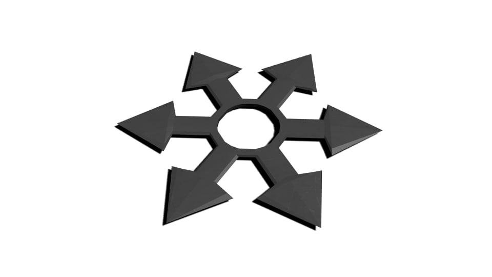 3d model shuriken