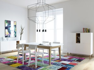 scene corona furnitures 3d max