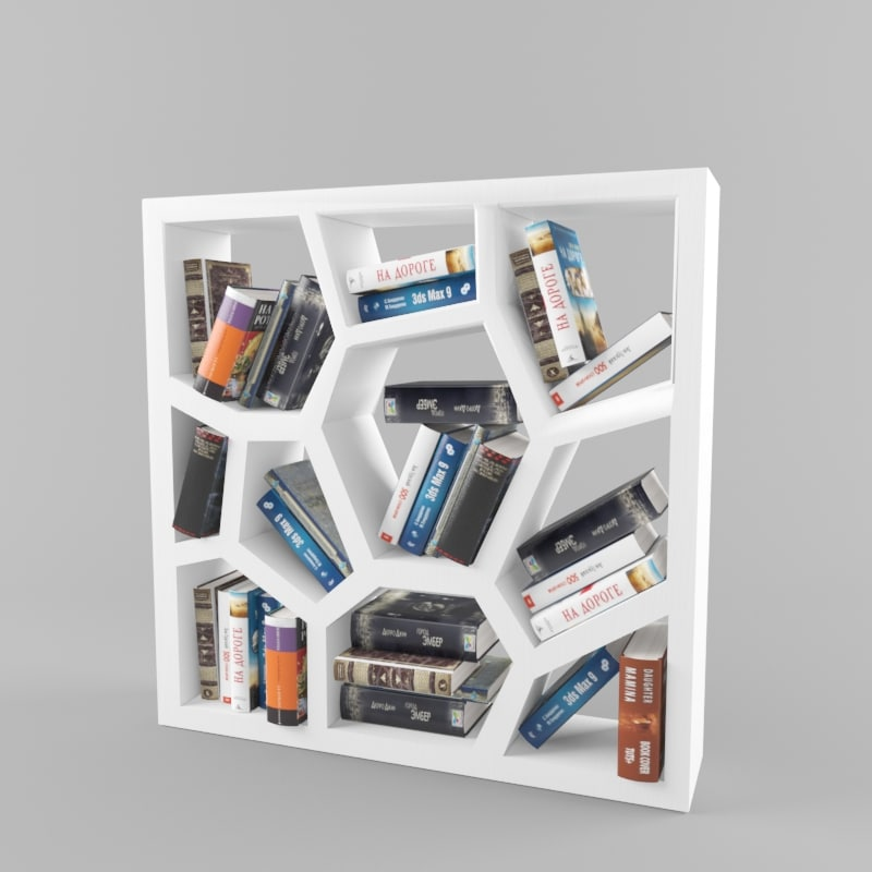 bookcase design 3d model