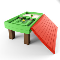 3d play water sand natural model