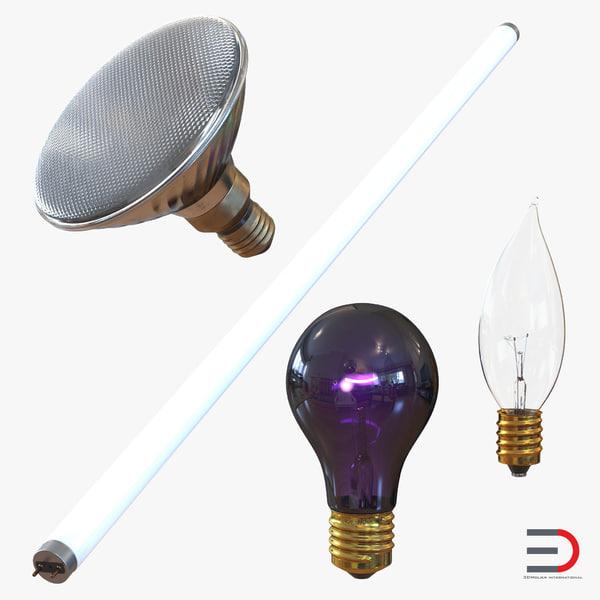 3d light bulbs 2 modeled model