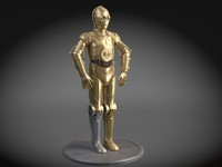 3d star wars droid model