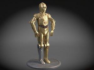 3d star wars droid model