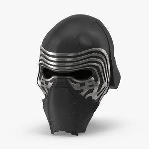 3d kylo ren helmet model