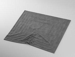 carpet rug wrinkles 3d model
