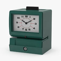 3d time punch clock