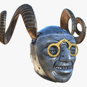 horned helmet obj
