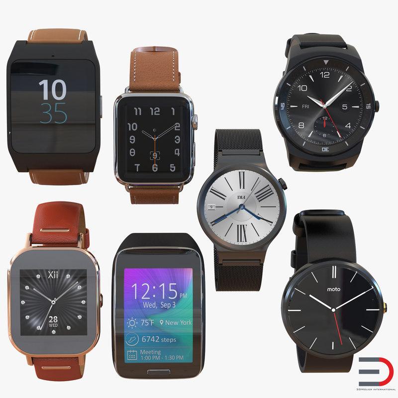 3d model smartwatches 2 watch
