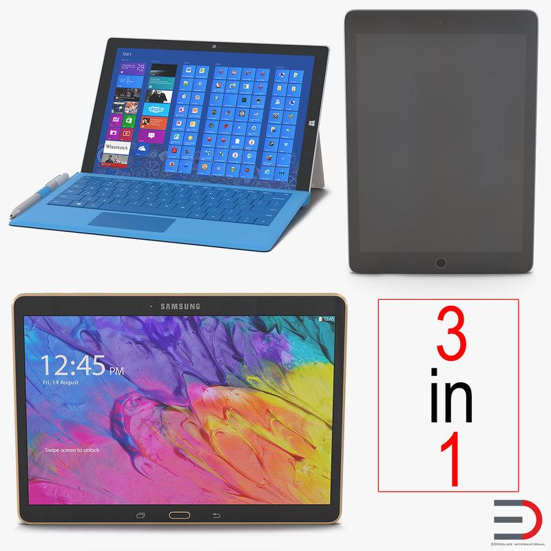 tablets 3 tab s 3d c4d