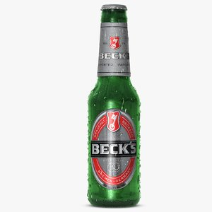 3d beck s beer bottle