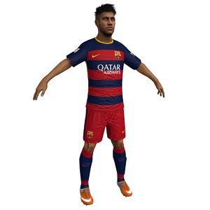 neymar jr 3d max