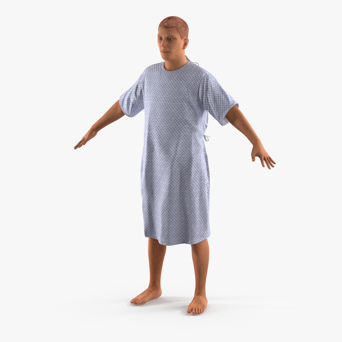 3d model rigged hospital patient