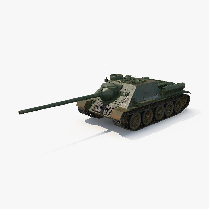 max su-100 soviet tank destroyer