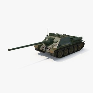 max su-100 soviet tank destroyer