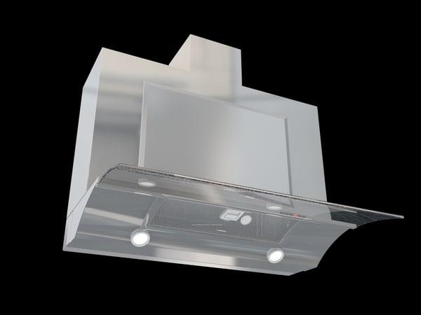 kitchen hood elica glide 3d model