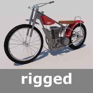 3d model of jawa motorcycle moto rig