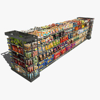 store shelf chips 3d model