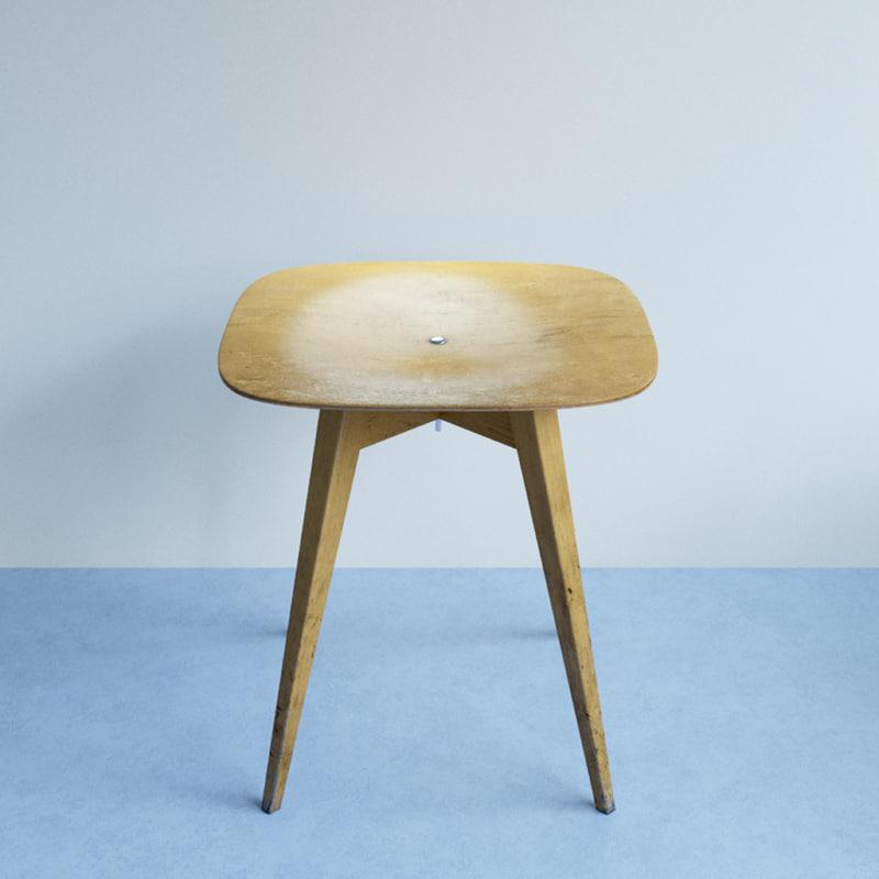 beech chair 3ds
