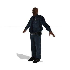 3d model of police zombie