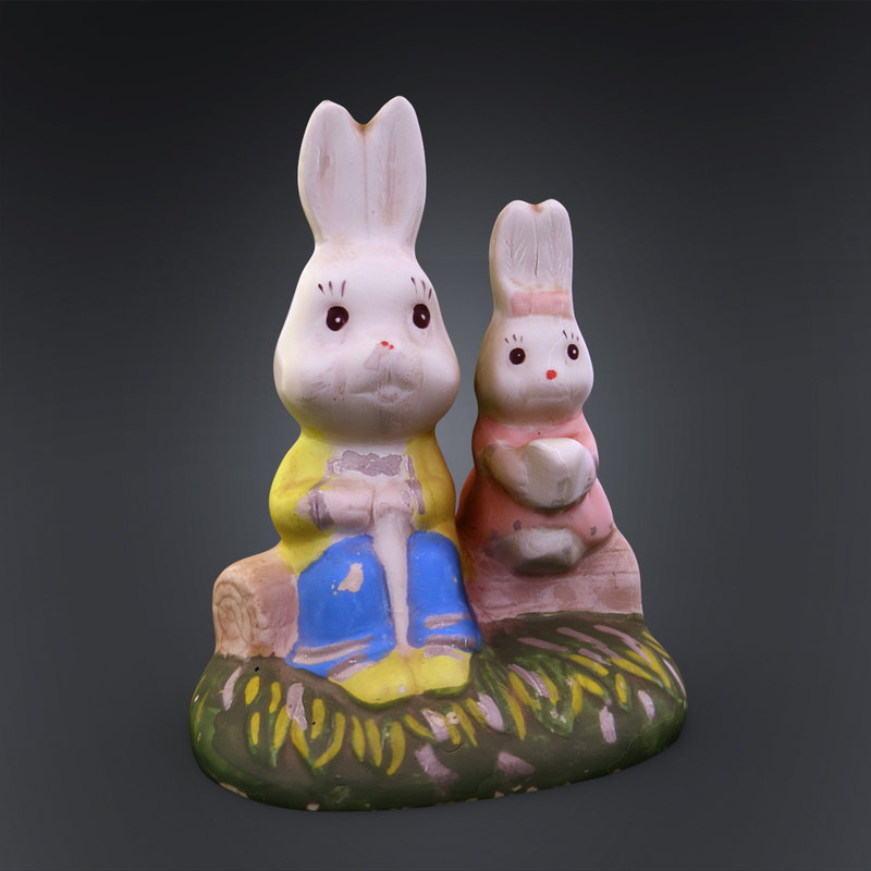 3ds rabbit statuette ready