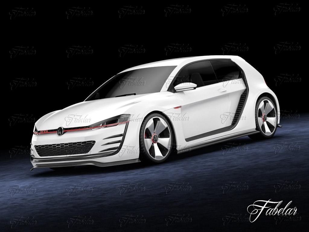 3d max volkswagen design vision gti