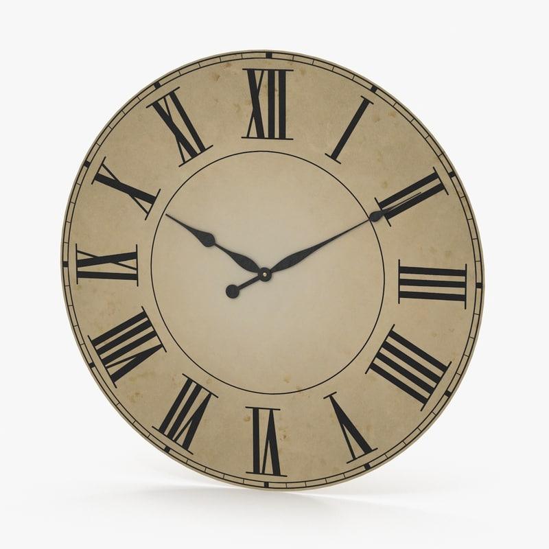 3d model clock face