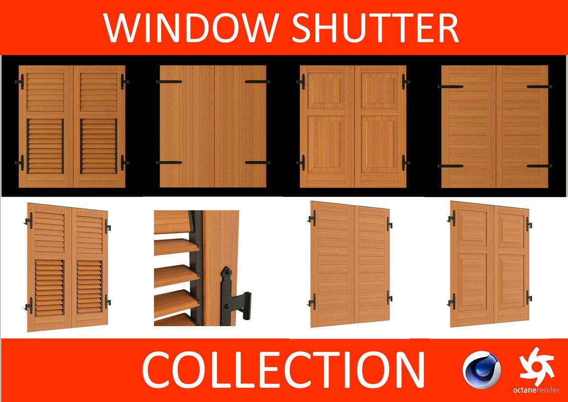 window shutters - 3d 3ds