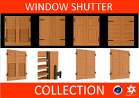 window shutters - 3d 3ds