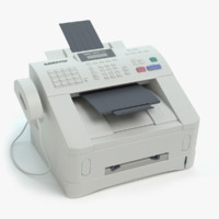 3d fax machine model