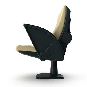3d model armchair conference armrests