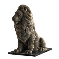 3d model of lion sculpture