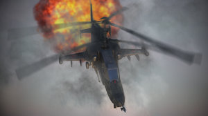 black shark helicopter 3d ma
