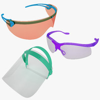 medical safety glasses 3d max