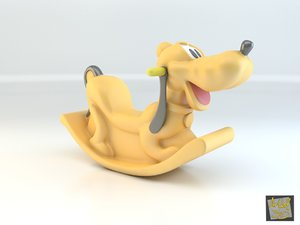 3d max toy plastic seesaw pluto