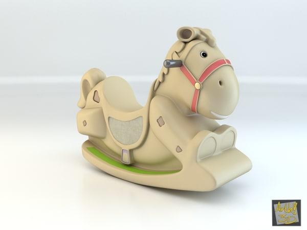 toy horse seesaw 3d model