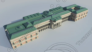 prado national museum - 3d model