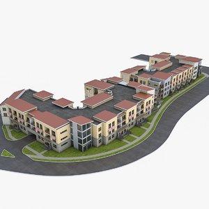 3d condominium residential complex