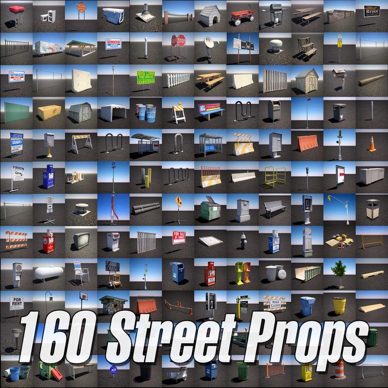 urban street props pack 3d max