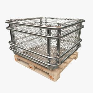 container pallet 3d 3ds