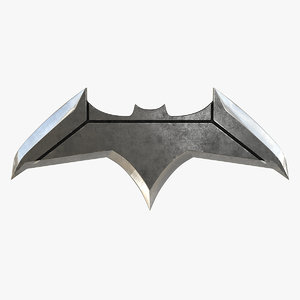 batarang batman v superman 3d model