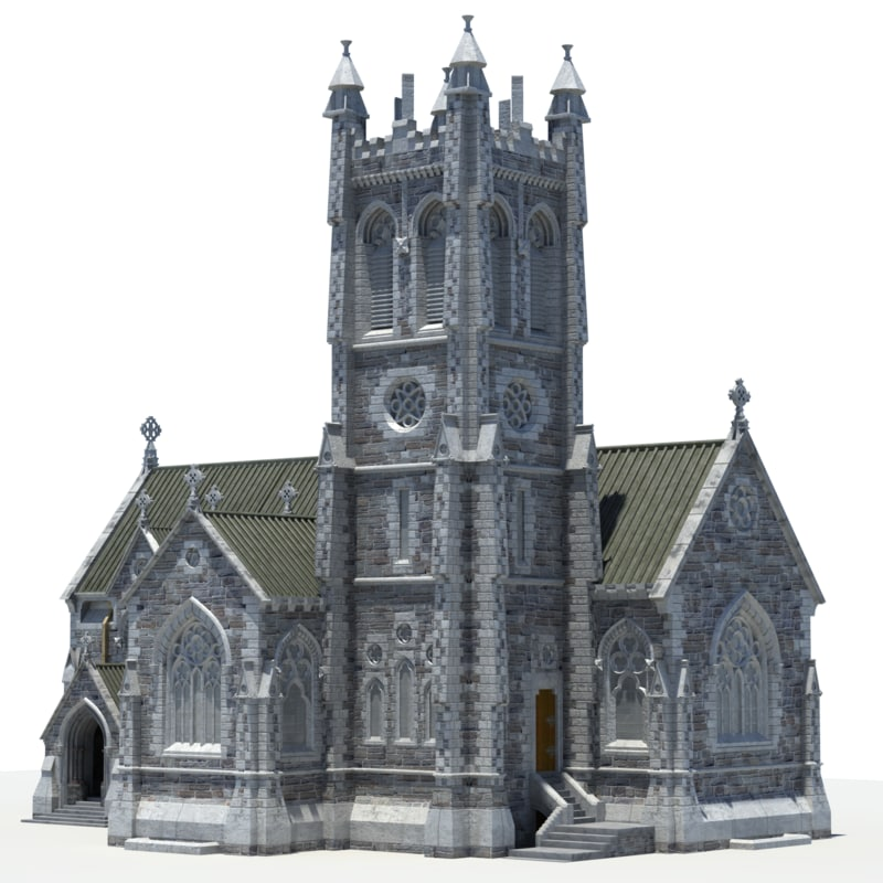 mini cathedral kylemore 3d model